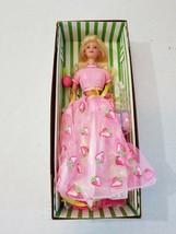 Vintage Mattel Barbie Strawberry Sorbet From Avon 1998 w/ all Accessories - $19.60