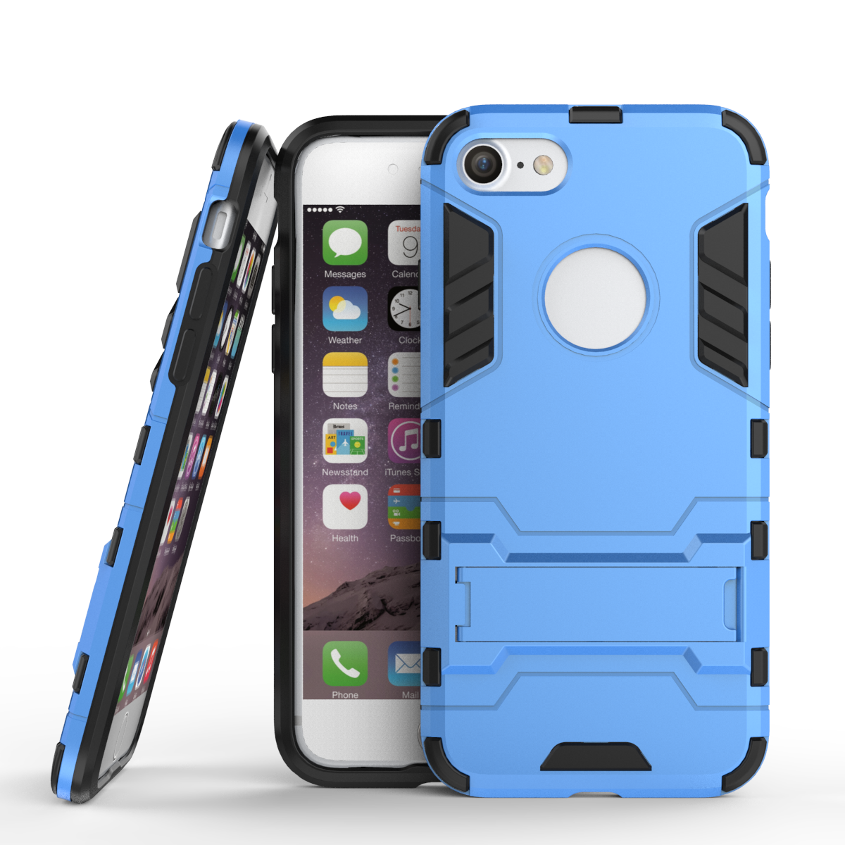 Slim armor shockproof kickstand protective case for iphone 7 4 7inch blue p20160907134050375