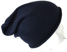 Blue Beanie Collection XIIX Cotton Acrylic Knit Hat One Size Cap Navy Bl... - ₨320.45 INR