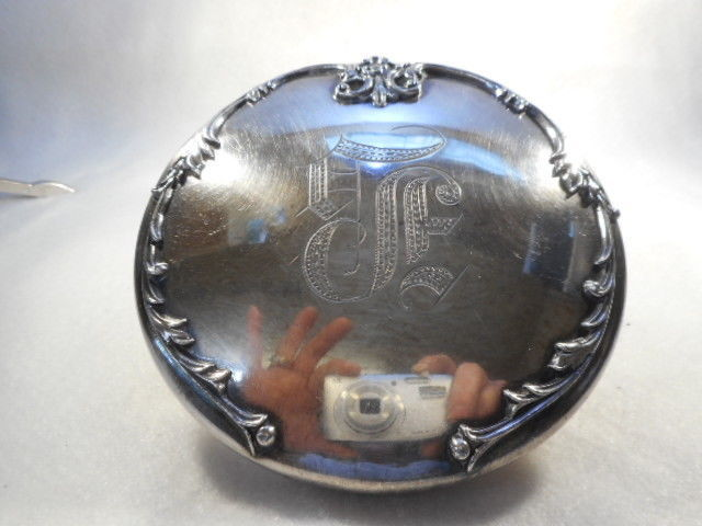 Vintage Rogers Smith Co. Silverplate Vanity Powder Dresser Box Monogrammed