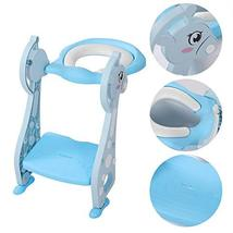 Toddler Potty Ladder Seat Toilet Step Stool for Kids Potty Training, Foldable Ad image 2