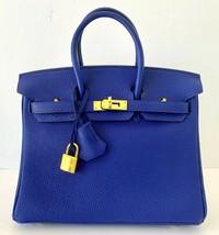 Hermes 25cm Birkin Bag Blue Electric Togo  Gold Hardware 19yrs on eBay - $19,795.05