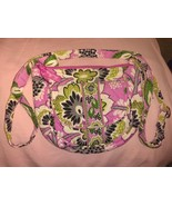 Vera Bradley floral cotton crossbody shoulder bag quilted pre-owned - $15.00