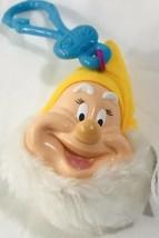 Mc Donalds Disney Snow White Key Chain Happy Dwarf Plush Doll Head Colle... - $17.81