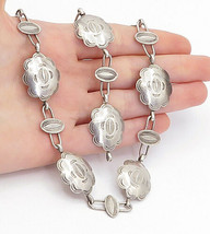 SOUTHWESTERN 925 Silver - Vintage Etched Pattern Necklace & Bracelet Set... - $141.37