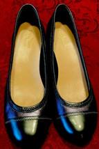 Cole Haan NikeAir Shoes Elsie Wedge Pumps Cap Toe Gray Leather Womens US... - $31.67