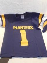 Vintage 1980's Planters Peanut Mr Peanut Navy Blue Football Jersey Size ... - $9.95