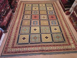 Size:6.3 ft by 9 ft Handmade Kilim,Carpet Vintage Shiraz Wool Kilim Rug... - $2,400.00