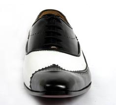 Men Hand Made Anastasio Resurrection Black & White Spectator Leather Shoes image 4