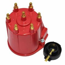 GM 90° V6 262 ci 4.3 6-Cylinder TBI EFI Distributor Cap & Rotor Kit Red Chevy image 3