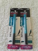 Loreal Infallible Paints Liquid Eyeliner #306 Intrepid Teal Lot Of 2 NEW/SEALED - $8.62