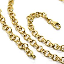 18K YELLOW GOLD CHAIN 23.60 INCHES, ROUND CIRCLE ROLO LINK, DIAMETER 4 MM image 4