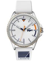 Lacoste Men's Cap Marino White Silicone Strap Watch 44mm - $130.89