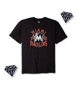 MLB Miami Marlins team graphic logo tee shirt Mens Size 3x - $22.02