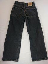 Boys Youth Levi's 569 Loose Straight Jeans Size 12 Black Denim (#7) image 3