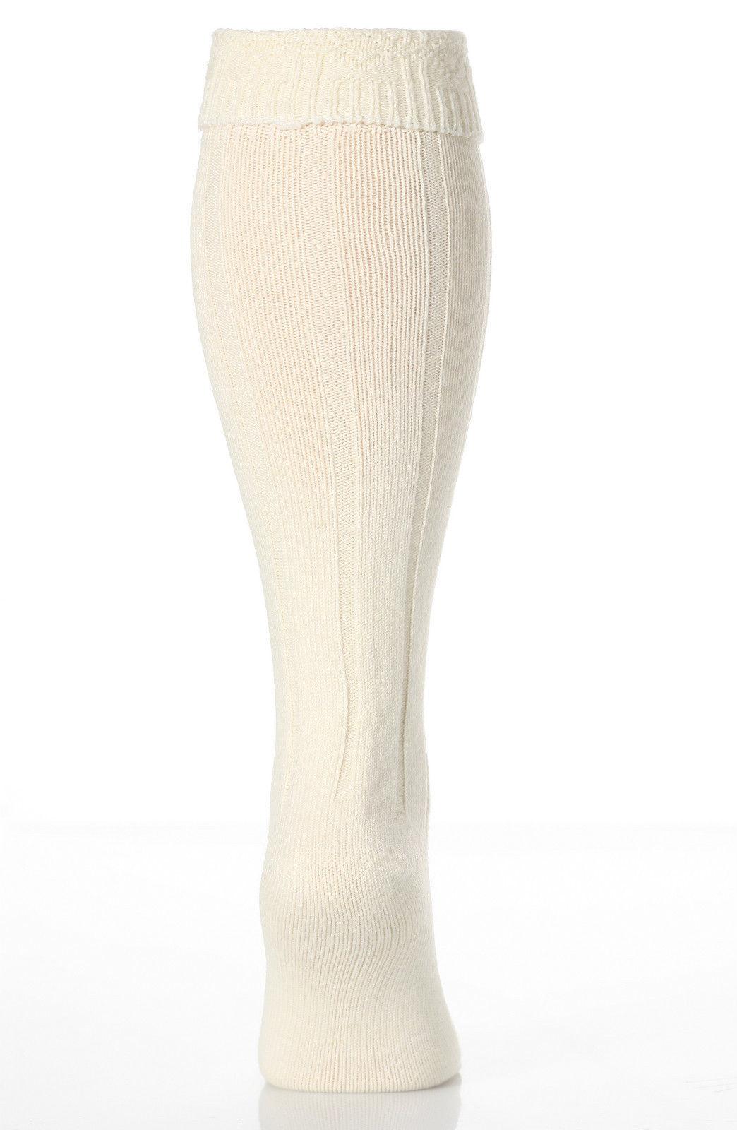 Hombre De Lana Crema Larga Calcetines De Falda Escocesa Ceremonia De La Boda