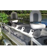 "Katydid Triple Bay Flat ""Spider"" Fishing Rod Holders for Pontoons/Boats/... - $32.49"