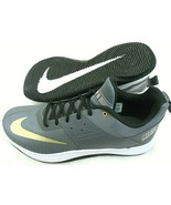 Nike Mens Fly By Low II Basketball Shoes Dark Grey Metallic Gold White S... - $49.49