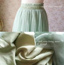 SAGE GREEN Women Tulle Maxi Skirt Sage Green Wedding Tulle Bridesmaid Skirt Maxi image 8