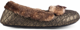NWT ISOTONER Indoor/Outdoor Metallic Quilted Moccasin Slippers - Small 5/6 - $34.95