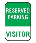 "Reserved Parking Aluminium Sign 12"" x 18"" - $29.39"