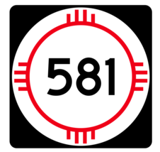 New Mexico State Road 581 Sticker R4206 Highway Sign Road Sign Decal - $1.45+
