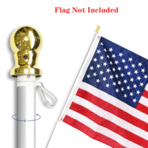 Anley 6 Feet No Tangle Spinning Flagpole, Aluminum Spinning Wall Mount F... - $25.95