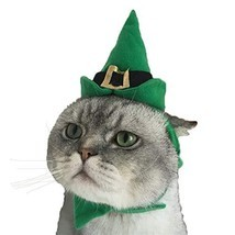 Cuteboom Dog Christmas Costume Sharp Poingted Hat with Necklace for Cat ... - $16.72