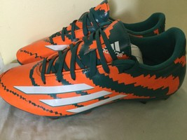 Adidas Men's soccer football cleats shoes sneakers size 7.5 green, orange - $16.34