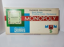 Vintage 1961 Monopoly Parker Brothers Real Estate Trading Board Game  - $26.50
