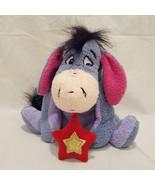 "Eeyore Star Winnie the Pooh Plush Stuffed Animal 6"" Bean Bag 2001 Disney... - $14.99"