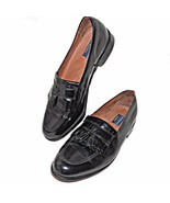 Bostonian Classics First Flex Black Leather Tassel Kiltie Loafers 20321 ... - $69.99