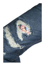 Flip The Script Japan Eroticism Naked Ladies Playing Cards Indigo Denim Jeans NW image 4
