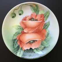 Antique Hutschenreuther Selb Bavaria Hand Painted Red Poppies & Buds Plate - $45.00