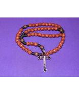 Basketball Rosary with FREE St. Sebastian (patron saint of athletes) Prayer Card - $8.95