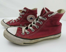 Converse Chuck Taylor All Star Hi Top Sneakers Shoes Mens 5 Womens 7 Red... - $19.79