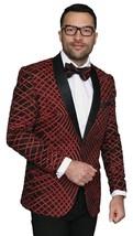 Men Insomnia Manzini Blazer Shiny Sequin Stage Performer Singer MZE113 red - $175.00