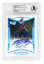 Hector Rondon Signed Cleveland Indians 2008 Bowman Chrome Prospects Base... - $68.31