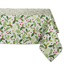 """DII 60x120"""" Rectangular Cotton Tablecloth, Boughs of Holly - Perfect for... - $25.62"""
