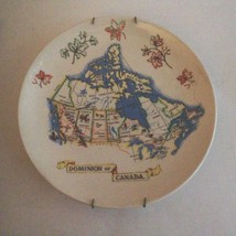 """Wade Pottery England """"Dominion Of Canada"""" Plate Map 9.5"""" - $19.75"""