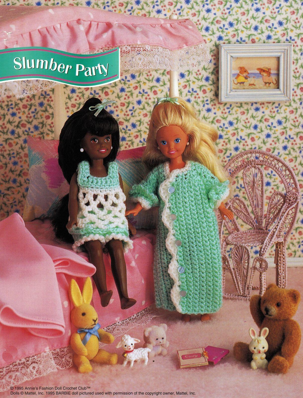"7-1/2"" Fashion Doll Beach Playtime Summer Teatime Slumber Party Crochet Pattern image 3"