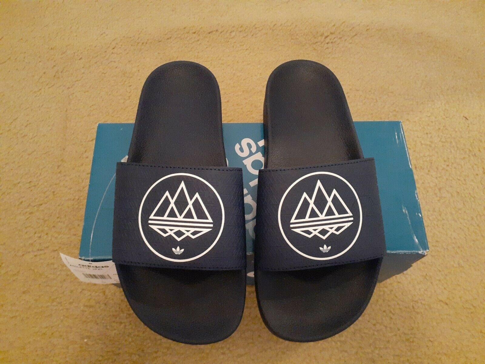 New Adidas ADILETTE SPZL Slides/Sleepers  Size 7 US Dark/blue US Style FX1057 - $59.39