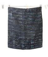 Ann Taylor Loft Pencil Straight Tweed Skirt Career Women Size 8 Black Mu... - $19.79