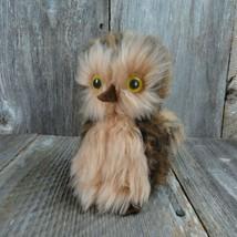Vintage Owl Brown Stuffed Animal Bird 1977 Dakin Pillow Pet Forest Barn ... - $44.54