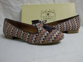 Lucky Brand Size 7.5 M Dolce Multi Color Zig Zag Flats Loafers New Women... - $78.21