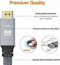 Snowkids HDMI 2.0 High Speed 18Gbps Nylon Braided Cable, 10 Feet image 3