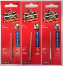 """Vermont American 12357 7/64"""" Titanium Drill Bit 3PKS - $2.97"""