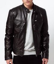 Mens Black Cowhide Leather jacket  Genuine Handmade Real Bespoke Leather - $118.79+