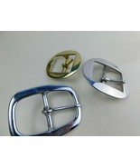Tack Buckle Lot Brass and Nickle 3 Pcs - $13.99