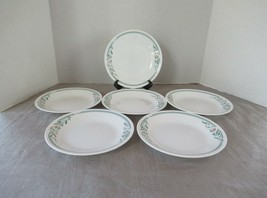 "Corelle Corning lot of 6 plates Roseware bread butter  white pink tulip 6-3/4"" - $15.63"